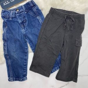 🎉Bundle baby boy jeans and bottoms B5-32